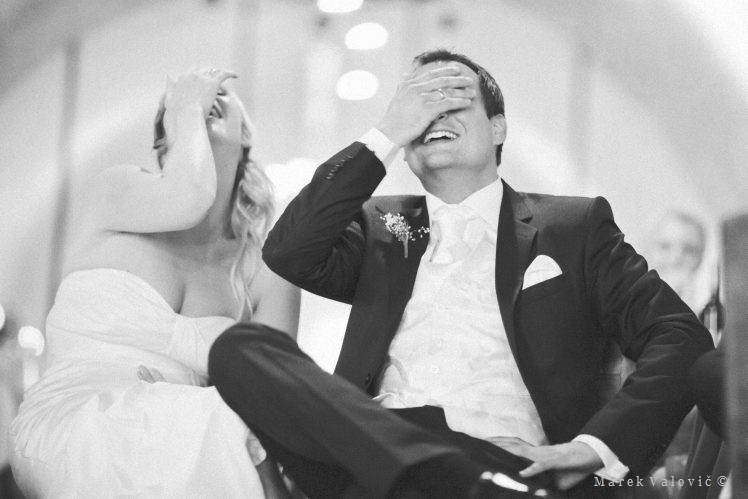 emotional black and white wedding photography funny moment