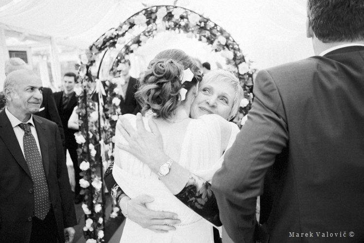 black and white wedding photography emotional congratulation