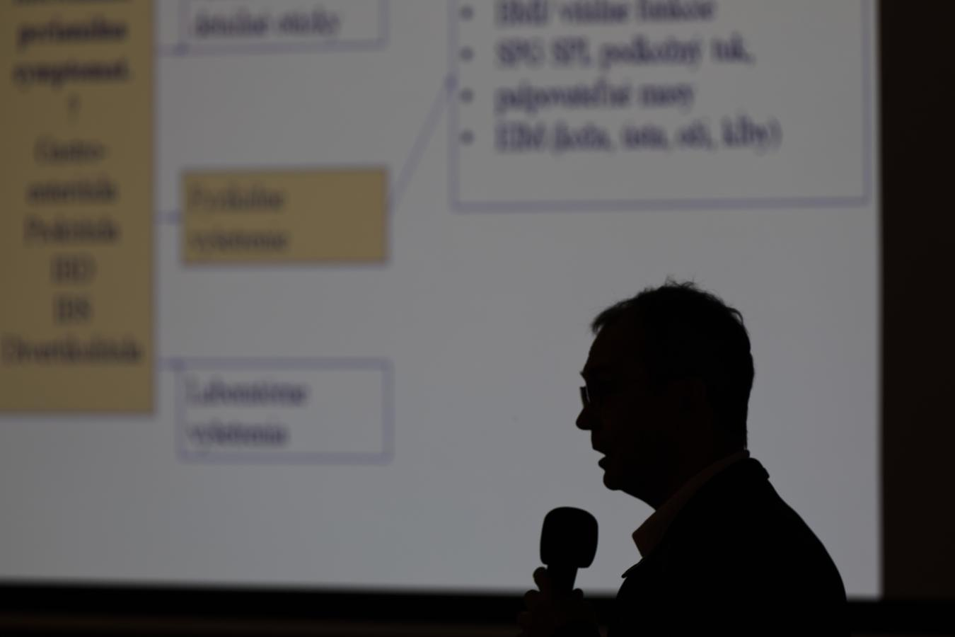 business event photography - speaker on conference