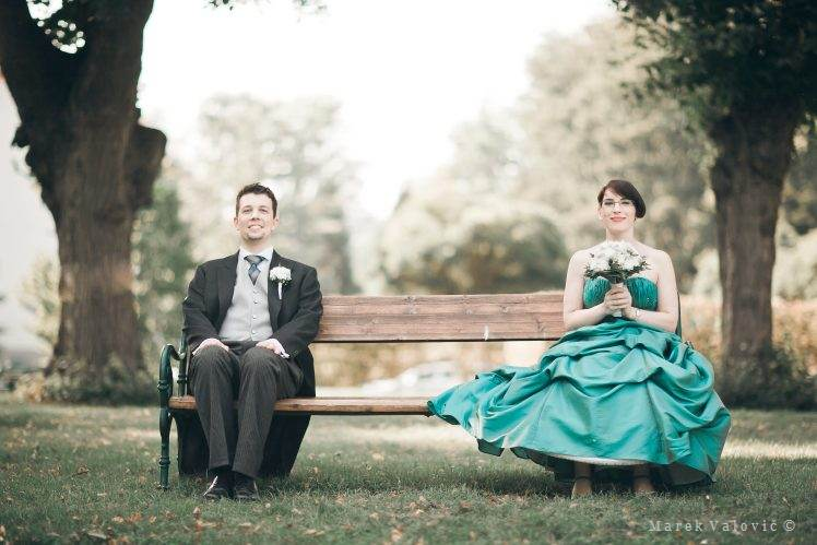 bride and groom portrait photo