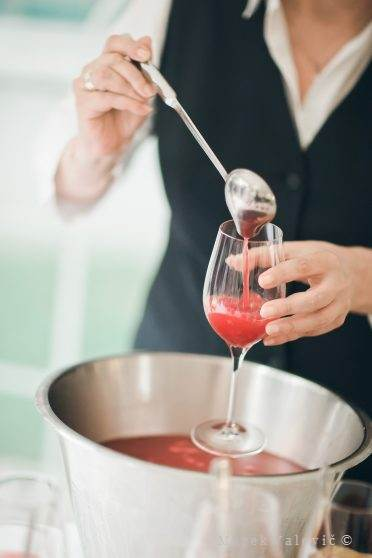 red wedding cocktail