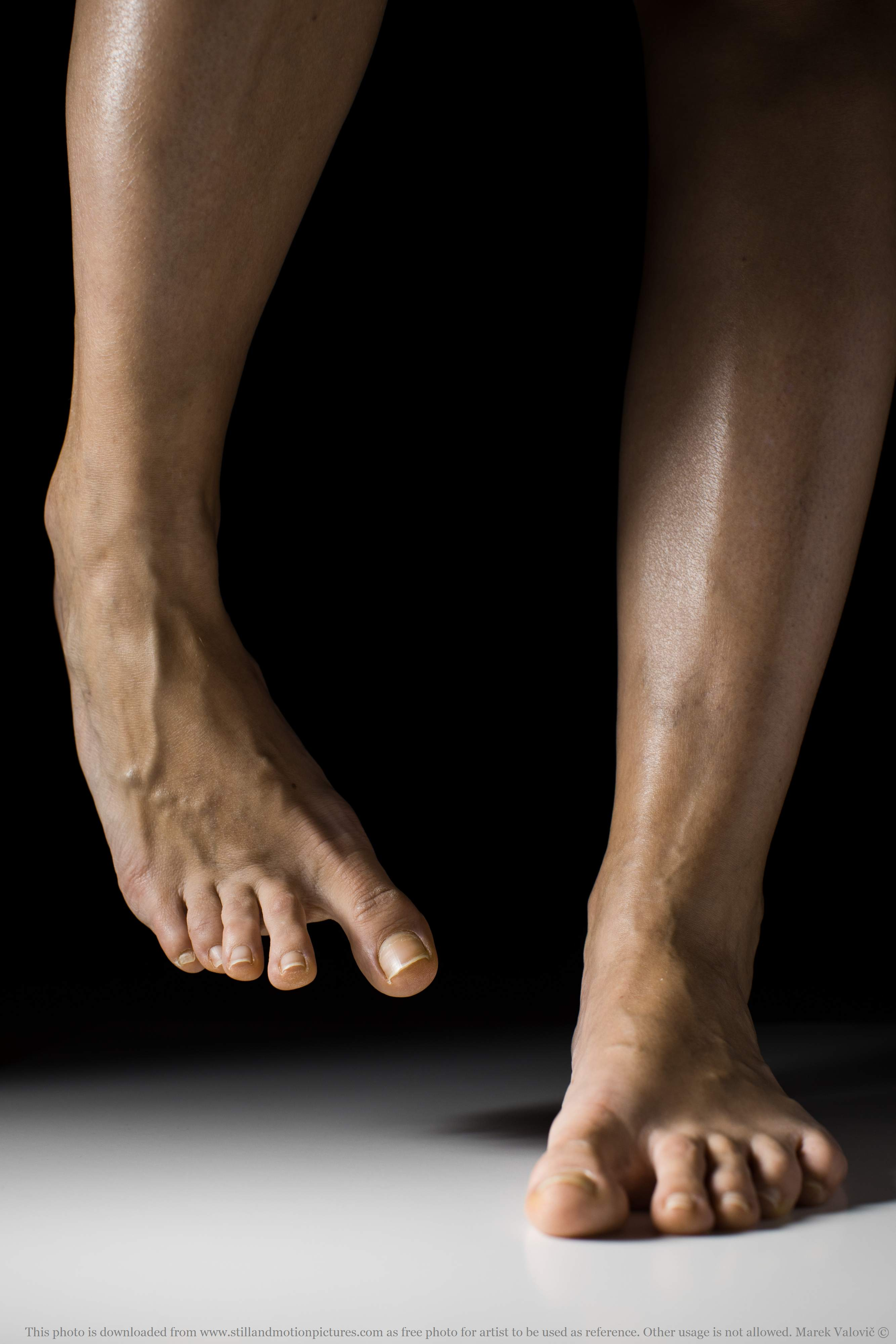feet anatomy - woman's feet with veins visible - free referefce photo for artists