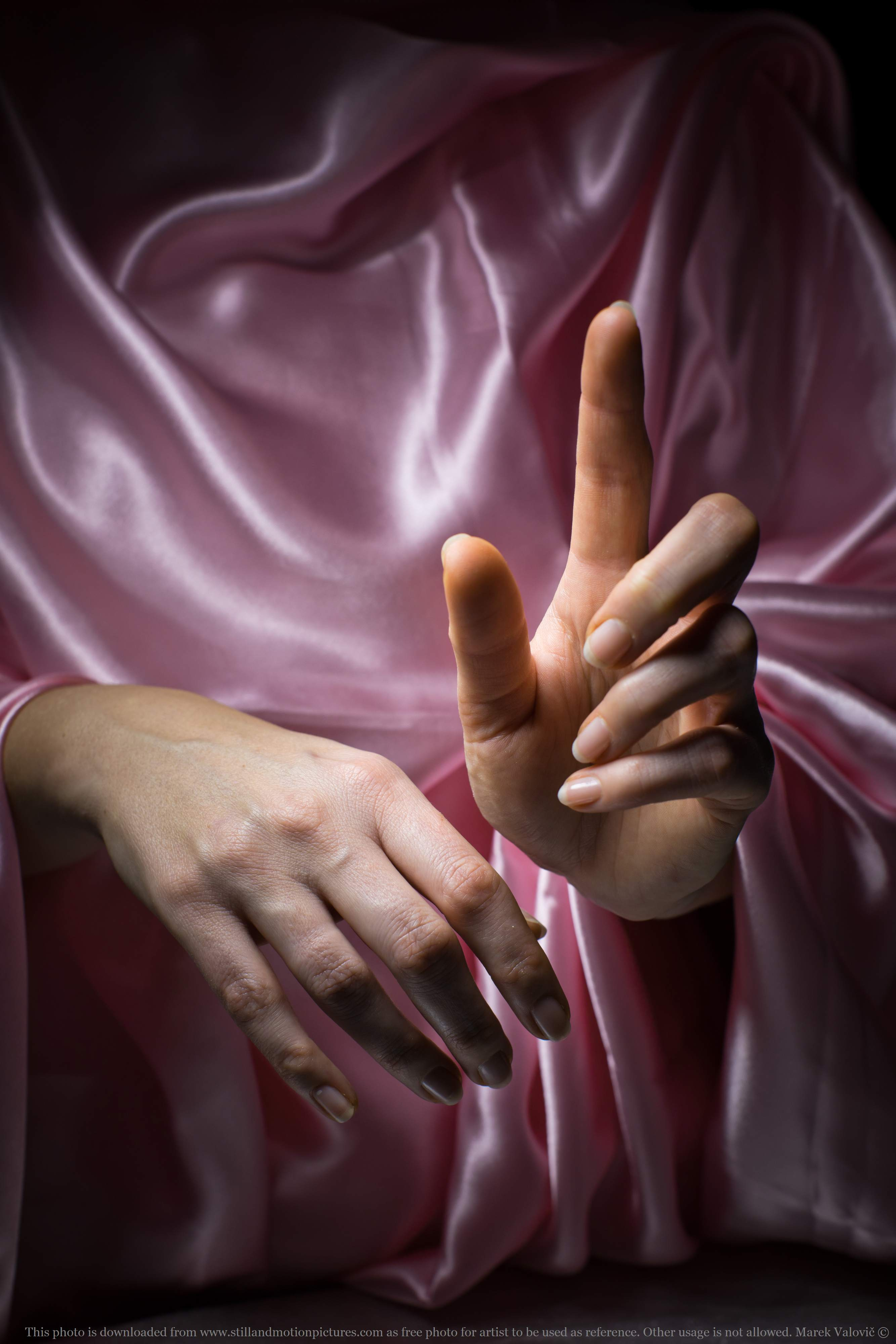 free woman's hands - sacret gesture - referefce photo for artists