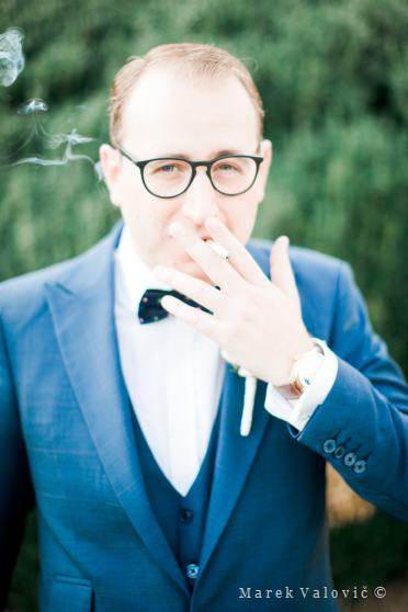 smoking groom