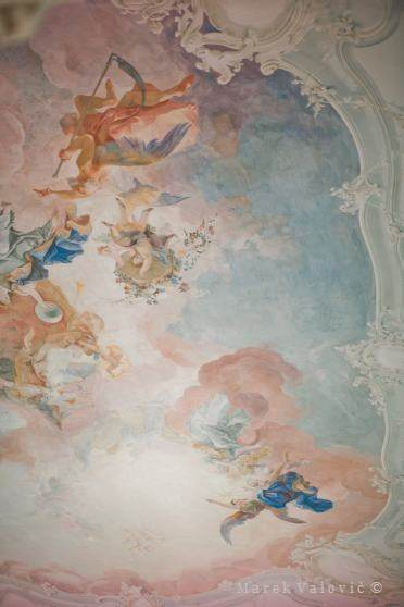 ceiling at Schloss Halbturn