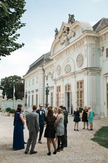 wedding guest at Schloss Halbturn