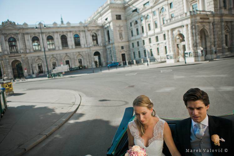 wedding - at the carriage in Vienna