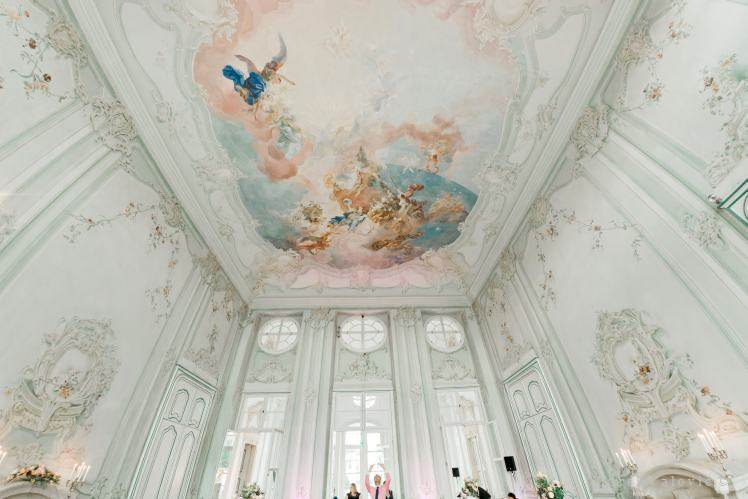 ceiling at Schloss Halbturn during wedding