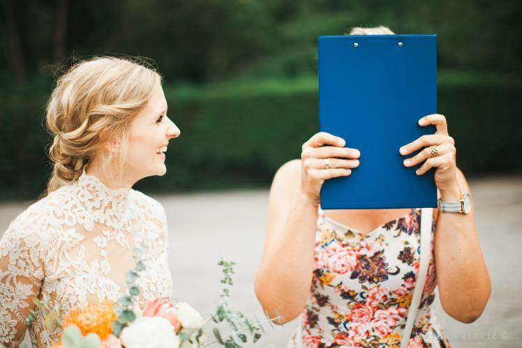 bride and wedding planner