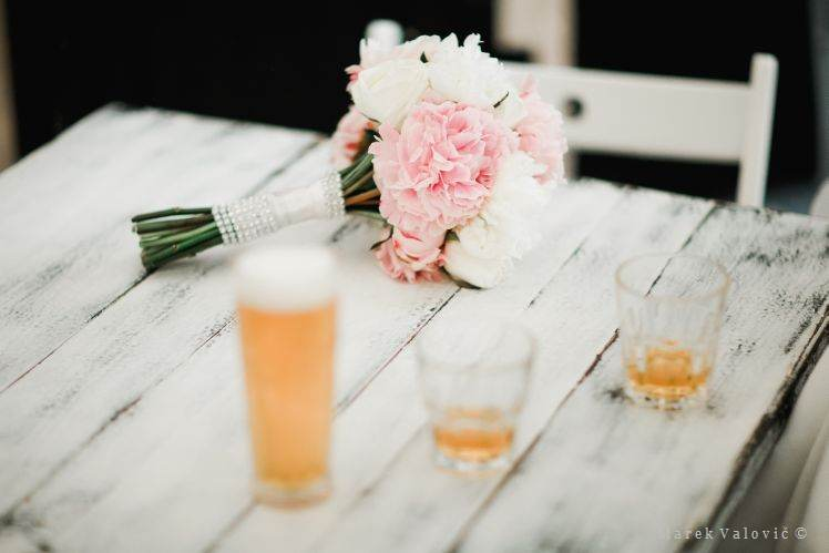 bouquet and beer
