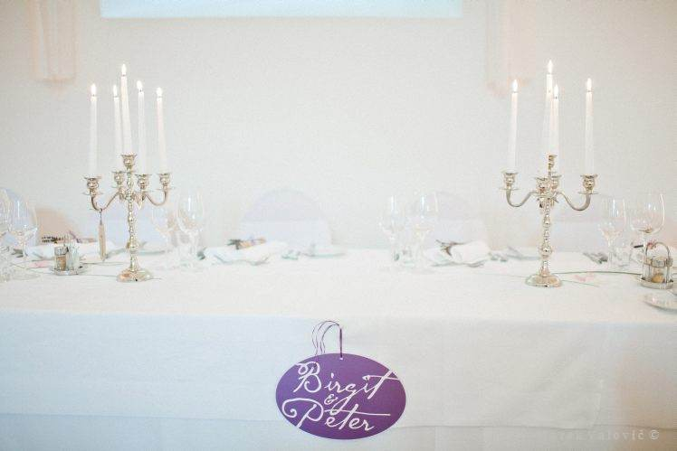 wedding decoration - table with names