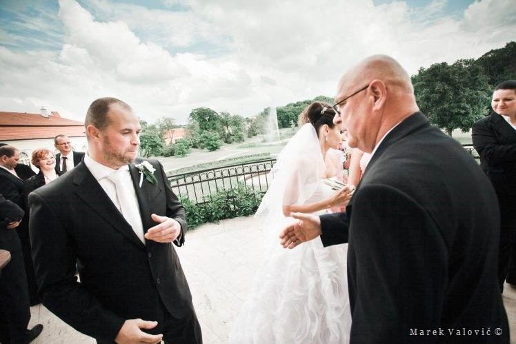 wedding Spontaneous congratulations Chateau Bela Slovakia
