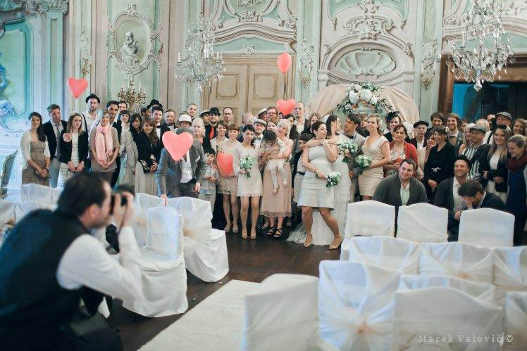 hall of mirrors - Destination wedding in Cesky Krumlov