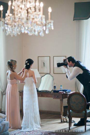 backstage wedding photographer
