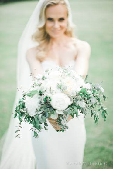 fine art wedding photography bride with bouquet