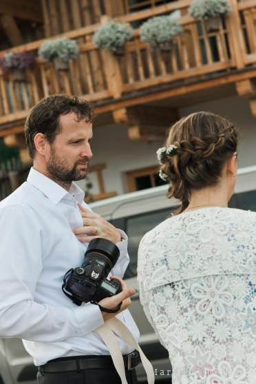 wedding photographer with bride