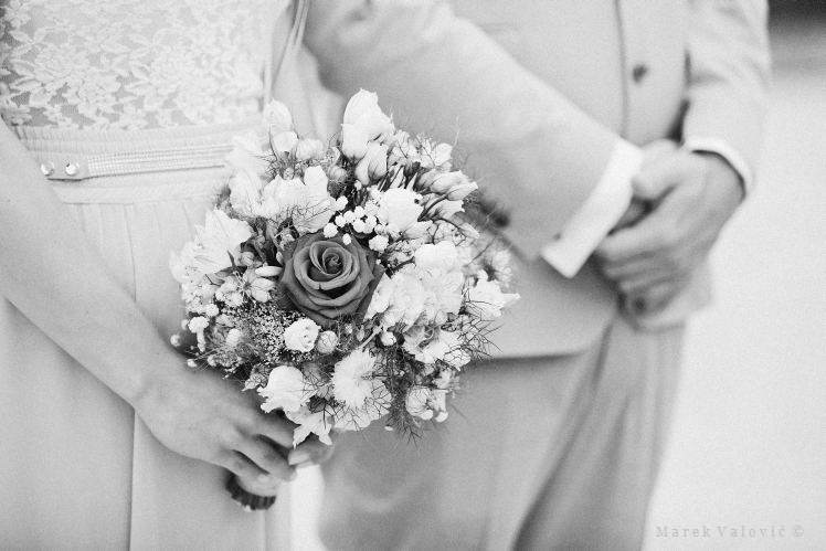 vintage wedding bouquet black and white wedding photography